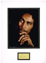 Bob Marley Autograph Signed Display